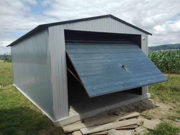 garaż 3,5x5,6x6,6x7, garaże blaszane na wymiar, wzmocnione profilem
