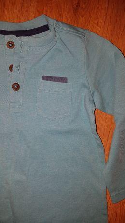 Bluzka bawełniana niebieska
