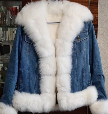 Зимняя джинсовая курточка