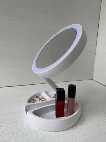 Зеркало на подставке с LED подсветкой