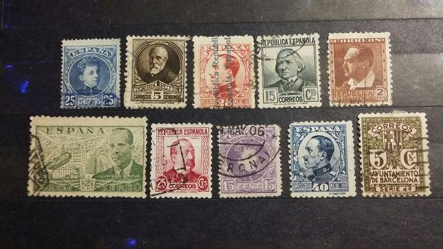 Stare znaczki Hiszpania..calosc 4 zl..
