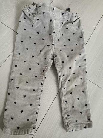 Spodnie H&M w serduszka 80