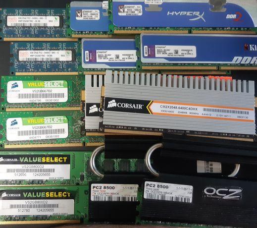 Оперативна память ddr2 1,2,4 gb, dimm, dimm ecc, so-dimm