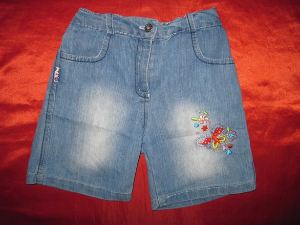 Шорты джинсовые Турция для девочки 4-5 лет 104-110 см