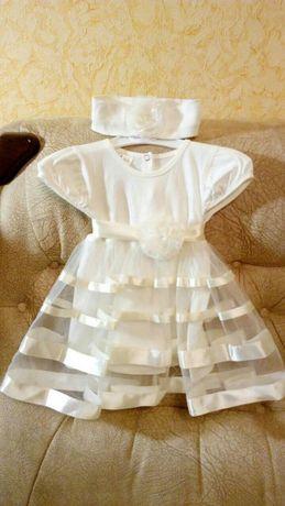 Нарядное платье из Антошки 68 размер