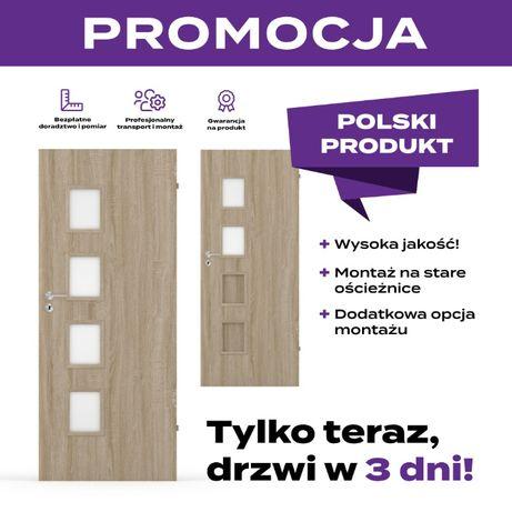 Drzwi wewnętrzne Stylowe drzwi pokojowe Promocja