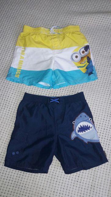 Шорты летние пляжные для плавания легкие OshKosh, H&M 4,5, 6-8 лет