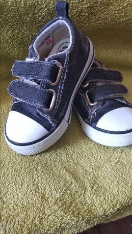 Кеды на мальчика, кроссовки для малыша. Размер 23. Черные на липучке.