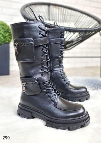 Зимние женские ботинки платформа