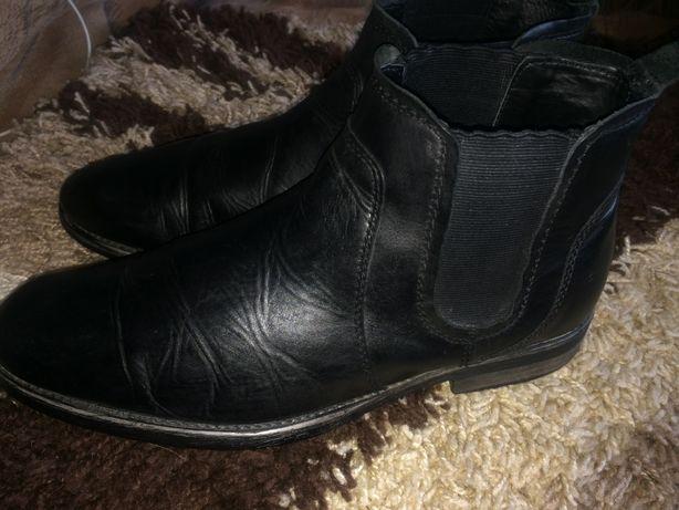 Ботинки кожаные челси 31,5 см