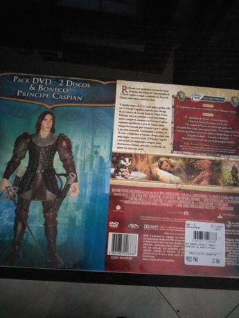 Boneco Narnia + DVD novo em caixa