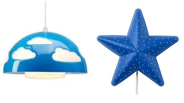 2 lampy Ikea Skojig i Smila Stjarna