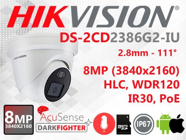 IP камера 8Mp Hikvision DS-2CD2386G2-IU (2.8мм) с микрофоном!