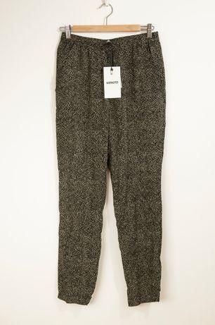 Wemoto Masics printed spodnie nowe z metką! rozmiar S lamparcie cętki