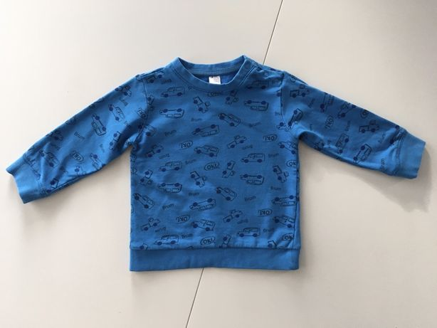 Bluza chłopięca autka, rozmiar 86
