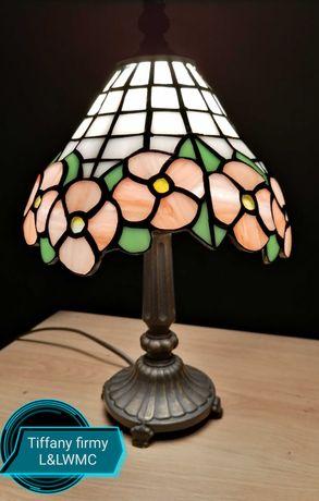 Lampa witrażowa Tiffany sygnowana