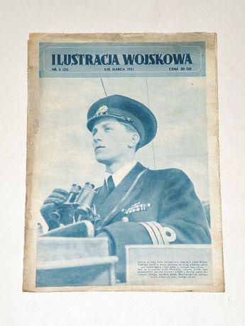 '' Ilustracja wojskowa '' , dwutygodnik z PRL , Nr 5 z 1-15 marca 1951