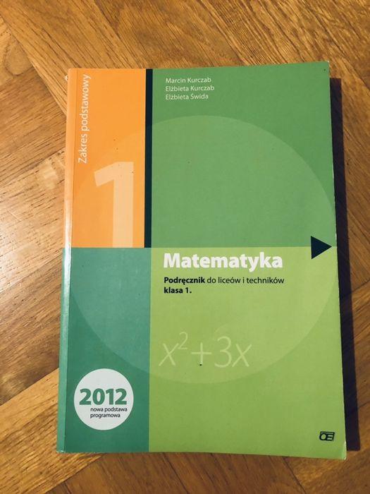 Zbiór zadań i podrecznik Matematyka 1 Kurczab Tarnów - image 1