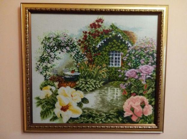 Подарок ручной работы!Картина вышитая крестиком в гостинную