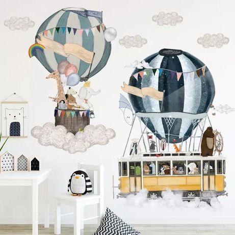 Детская виниловая интерьерная наклейка на стену Воздушные шары