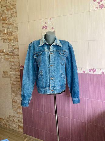 Джинсовый пиджак wrangler оригинал синий