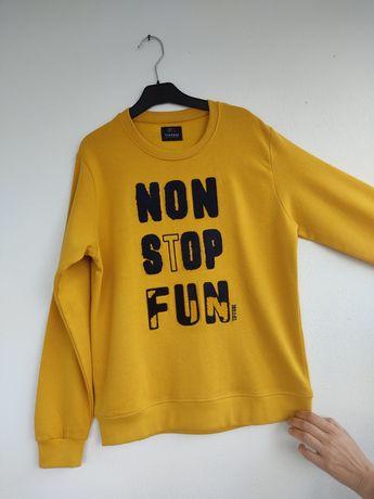 Camisola/sweat amarelo mostarda, rapaz 11-12 anos, Tiffosi