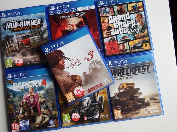 PS4 SYBERIA 3 DUBBING PL inne gry PS4 Farcry 4 Tekken 7 GTA 5 Farma