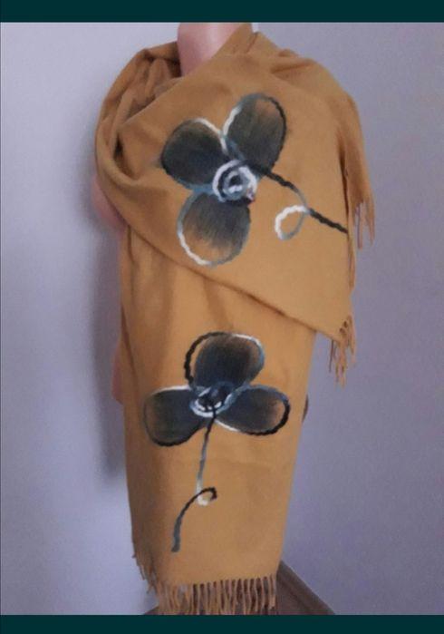 Chusta szal ponczo miodowe żółte nowe Radomsko - image 1