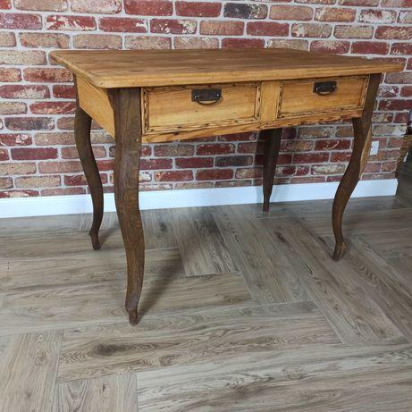Stół biurko drewniany 109/68 lite drewno antyk
