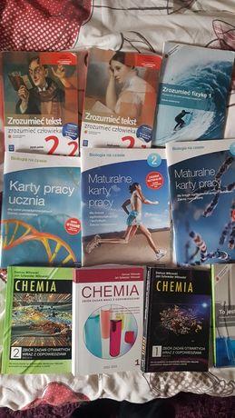 Ksiązki z biologii i chemii klasy licealne oraz język polski
