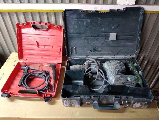 Młot wyburzeniowy Hitachi H60MRV 7,6-26J Młotowiertarka Hilti TE-1