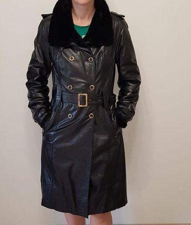 Дубленка кожа натуральный мех шуба курточка