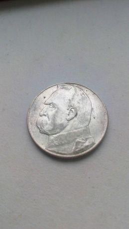 10 złotych 1937 Piłsudski orzeł moneta kolekcja srebro II RP