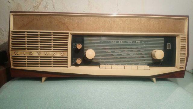 Stare radio lampowe Unitra ZRK Wirtuoz 1966r