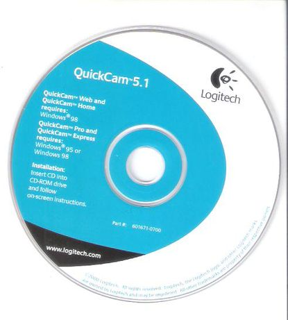 Software Instalação Camarâ Logitech QuickCam 5.1