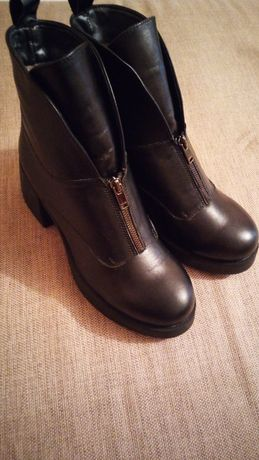 Ботинки сапоги кожаные