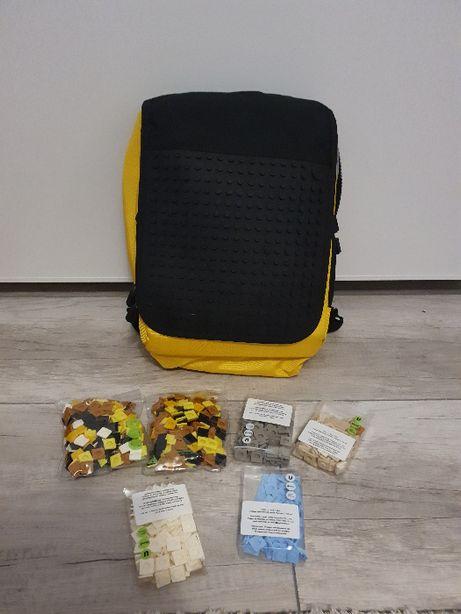 NOWY Plecak UANYI czarno-żółty/ personalizowany/pikselowy plecak