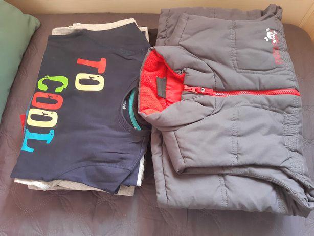 16 rzeczy, dla chłopca, bluzy, bluzki, r.  122.