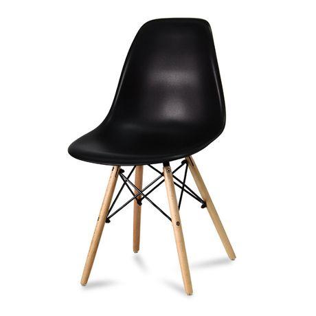 DSW Krzesło czarne milano enzo skandynawskie 553ab do salonu kuchn