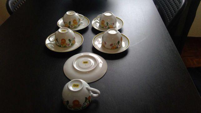 Conjunto de 5 chavenas de café vista alegre