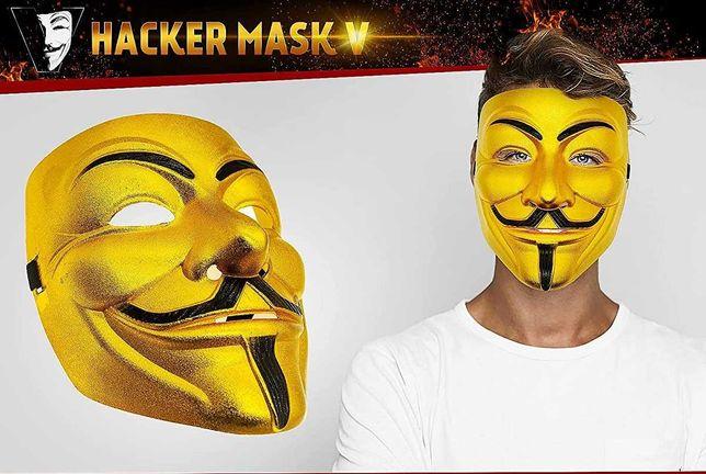 Анонимуса маска Haker. Золотая маска Гая Фокса Vendetta