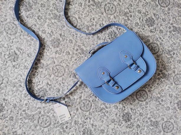 Nowa torebka kopertówka H&M niebieska
