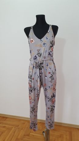 Kombinezon kwiaty wiosna długie spodnie Boohoo XS S