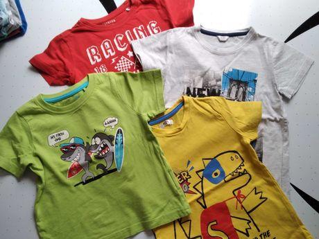 Bluzki, t-shirt, chłopięce, krótki rękaw, r. 104, szt. 4