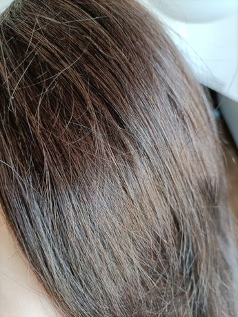 Włosy naturalne clip in ciemny brąz