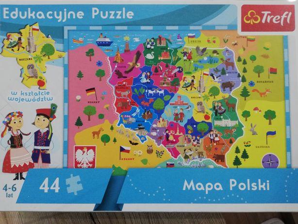puzle Trefl mapa Polski