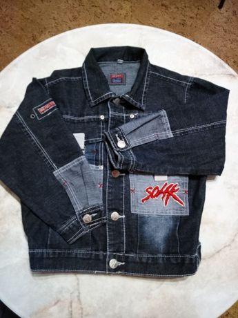Пиджак джинсовый на мальчика на возраст 7-8 лет