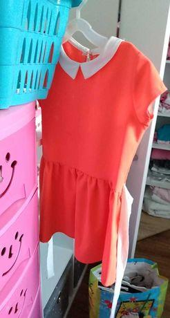 Sukienka neonowa 122/128
