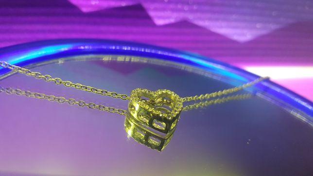 Naszyjnik Srebrny 925 -  Serce