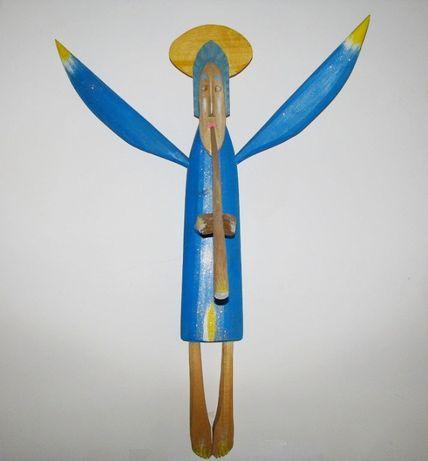 Anioł duża rzeźba z drewna 81 cm
